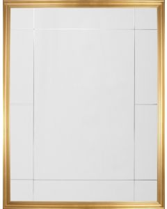 Gold Leaf Eleven Panel Rectangular Wall Mirror