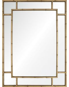 Gold Leaf Finish Panel Wall Mirror