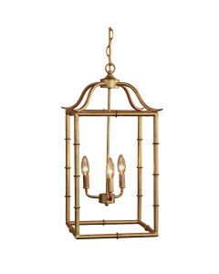 Gold Pendant Three Light Hanging Lantern
