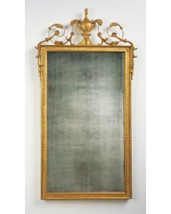 Carver's Guild Grand Adam Rectangle Wall Mirror in Antique Gold Leaf