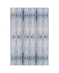 Gray and Navy Abstract Area Rug - Available in Two Different Sizes