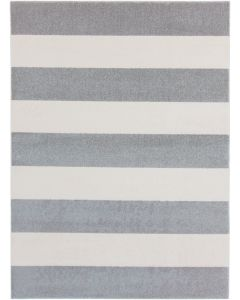 Gray and White Striped Area Rug - Available in a Variety of Sizes