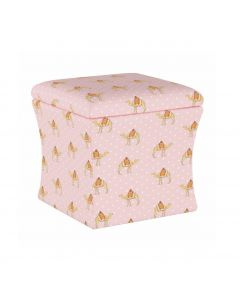 Gray Malin For Cloth & Co. Camel Dot Pink Storage Ottoman