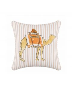 Gray Malin For Cloth & Co. Camel Stripe Tan Throw Pillow