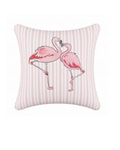Gray Malin For Cloth & Co. Flamingo Stripe Pink Throw Pillow