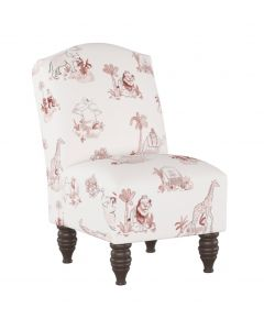 Gray Malin For Cloth & Co. Kid's Toile Pink Slipper Chair