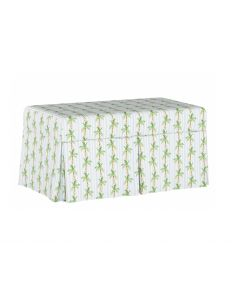 Gray Malin For Cloth & Co. Palm Tree Stripe Blue Storage Bench