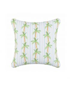 Gray Malin For Cloth & Co. Palm Tree Stripe Blue Throw Pillow