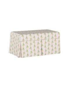 Gray Malin For Cloth & Co. Palm Tree Stripe Pink Storage Bench
