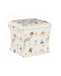 Gray Malin For Cloth & Co. Parker Parade Multi Circus Theme Storage Ottoman