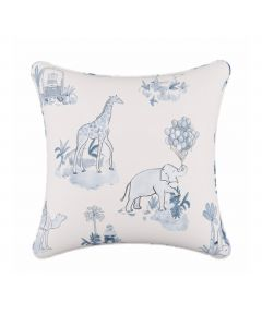 Gray Malin For Cloth & Co. Toile Blue Throw Pillow