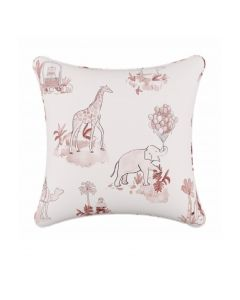 Gray Malin For Cloth & Co. Toile Pink Throw Pillow