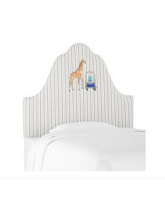 Gray Malin for Cloth & Company Giraffe Stripe Grey Kid's Headboard - Available in 3 Sizes