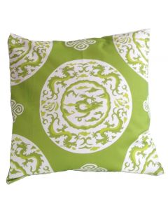 Green Dragon Square Pillow