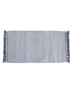 Grey Fringed Super Soft Bath Mat - Available in Multiple Sizes