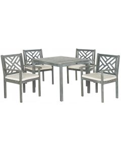 Grey 5 Piece Outdoor Dining Set