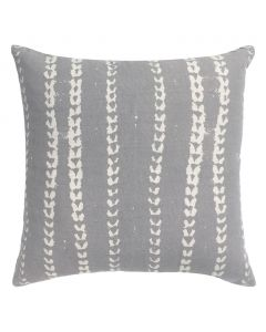 Grey Mudcloth Vine Pillow