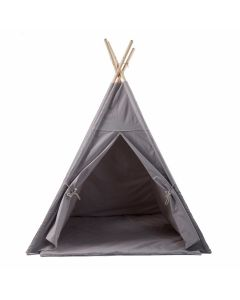Grey Play Teepee With Floor Mat for Kids