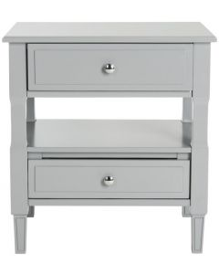 Grey Two Drawer Nightstand - LOW STOCK