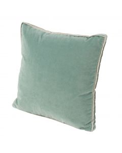 Velvet with Gusset and Danish Linen Double Flange Throw Pillow