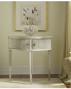 Modern History Antique Grey Gustavian Half-Round Console Table