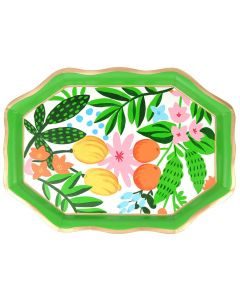 Hand Painted Fruit and Floral Design Tea Tray - ON BACKORDER UNTIL SPRING