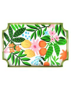 Hand Painted Fruit and Flower Design Decorative Tray