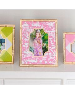 Hand Painted Shanghai Pink Bamboo Photo Frame