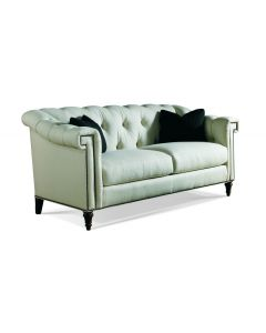 Hand Tufted Back Upholstered Two Seat Cushion Sofa