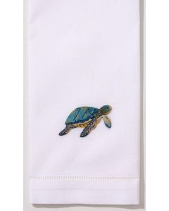 Set of 2 Nautical Sea Turtle Cotton Hand Towels