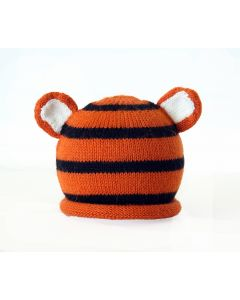 Hand Knit Tiger Hat for Babies - Available in 3 Sizes- Call to Confirm Availability
