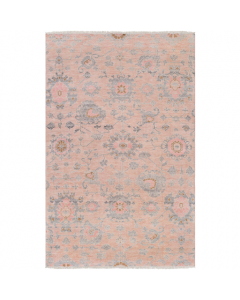 Hand Knotted Peach Floral Rug - Available in a Variety of Sizes