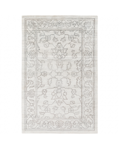 Hand Loomed Ivory and Gray Rug - Available in a Variety of Sizes