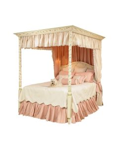Hand Painted Floral Vine Canopy Bed