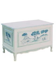 Hand Painted French Country Toile Toy & Blanket Chest