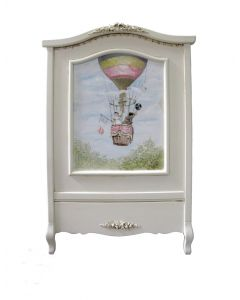 Hand Painted Hot Air Balloon Crib with Appliquéd Moulding