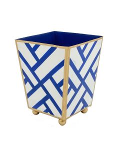 Hand Painted Newport Fretwork Design Cachepot - Available in Two Sizes