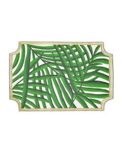 Hand Painted Palm Leaf Design Decorative Tray - Available in Three Colors (PINK IS SOLD OUT)