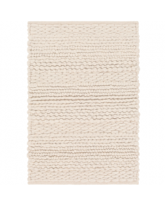 Hand Woven Beige Wool Area Rug - Available in a Variety of Sizes
