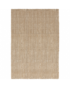 Hand Woven Jute Reeds Rug in Tan and Cream