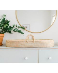 Handcrafted Natural Grass Changing Basket