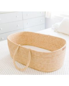 Handcrafted Natural Grass Moses Basket