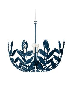 Handmade Botanical Leaf 4 Light Chandelier - Variety of Colors Available