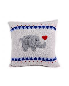 Handmade Children's Pillow with Elephant Heart Design - LOW STOCK - CALL TO CONFIRM AVAILABILITY