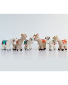 Handmade Llama Christmas Ornaments (Set of 6)