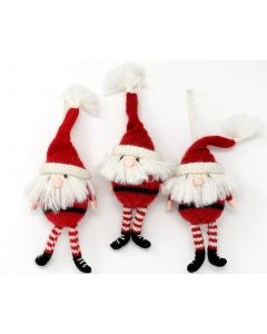 Handmade Santa Christmas Ornaments (Set of 3)