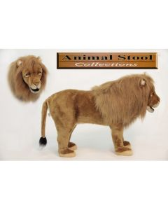 Safari Lion Stuffed Animal Toy Stool for Kids