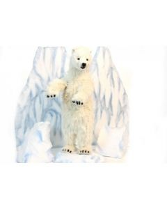 Standing Arctic Polar Bear Cub Stuffed Animal Toy for Kids