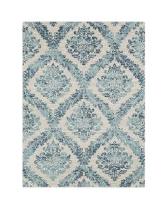 Teal Gradient Damask Area Rug- Available in a variety of sizes