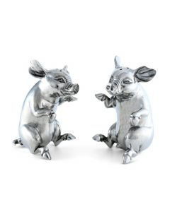Happy Pigs Pewter Salt and Pepper Set